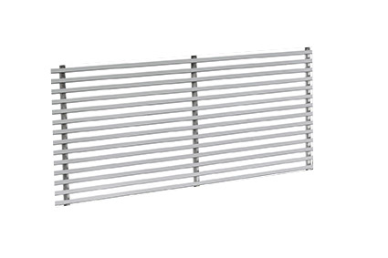 MSO-1.0 500x100 RAL 9010 stěnová mřížka 1-řadá, profil 0°