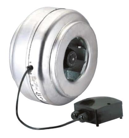 RM 125 N radiální ventilátor kovový
