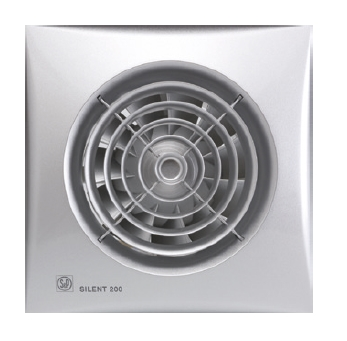 SILENT 200 CZ Silver tichý malý axiální ventilátor