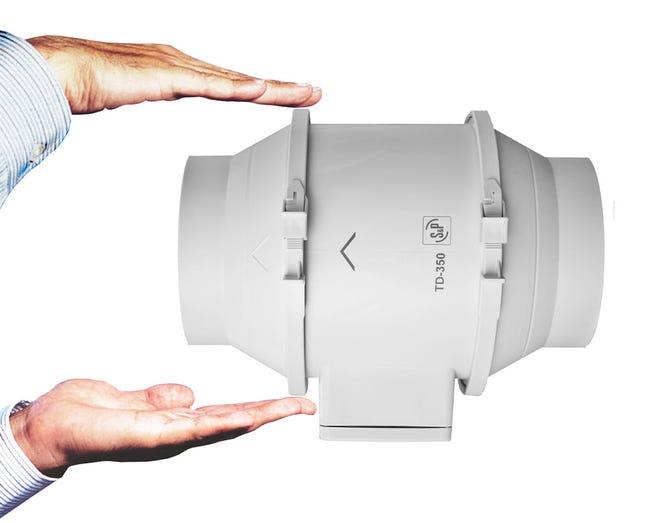 TD Mixvent 350/125 T IP44 potrubní ventilátor s doběhem