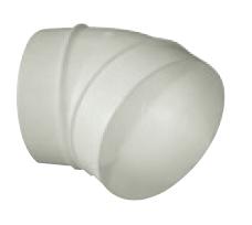 UK-OS-125/45 oblouk plastový 45° pro kruhové potrubí