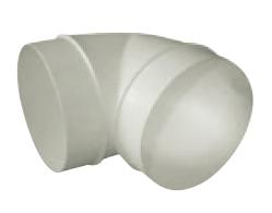 UK-OS-125/90 oblouk plastový 90° pro kruhové potrubí
