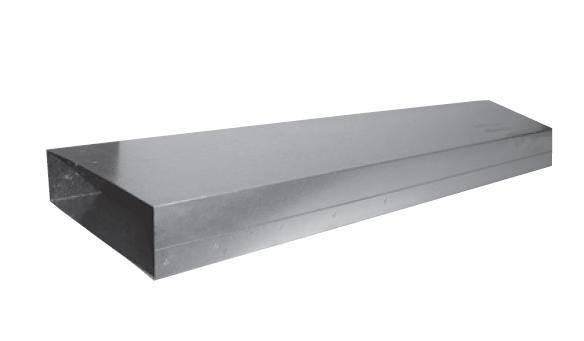EDP-PK-200x50/1000 plochý kanál
