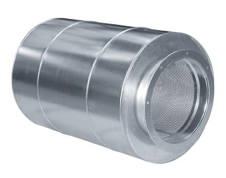 TAAC 500 tlumič hluku s jádrem pro axiální ventilátory