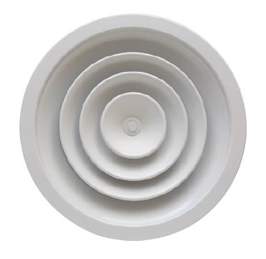DRE-CF 250 kruhový anemostat s pevným kuželem