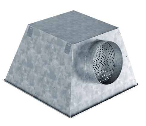 PQZ-H-EKO 500 RE odvodní plenum box horizontální