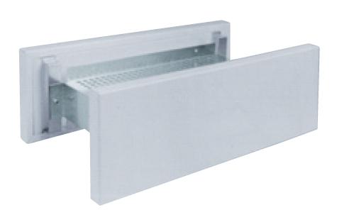 VSR 800 průchozí stěnový ventil čtyřhranný