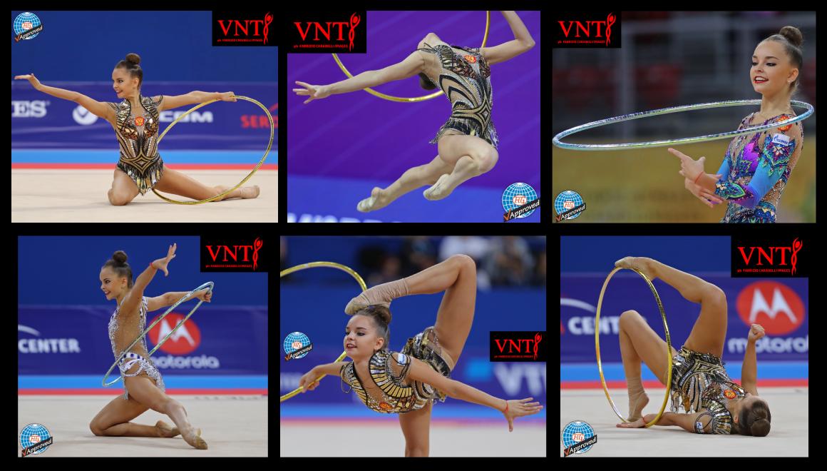 Mistryně světa Arina a Dina Averina - gymnastické obruče