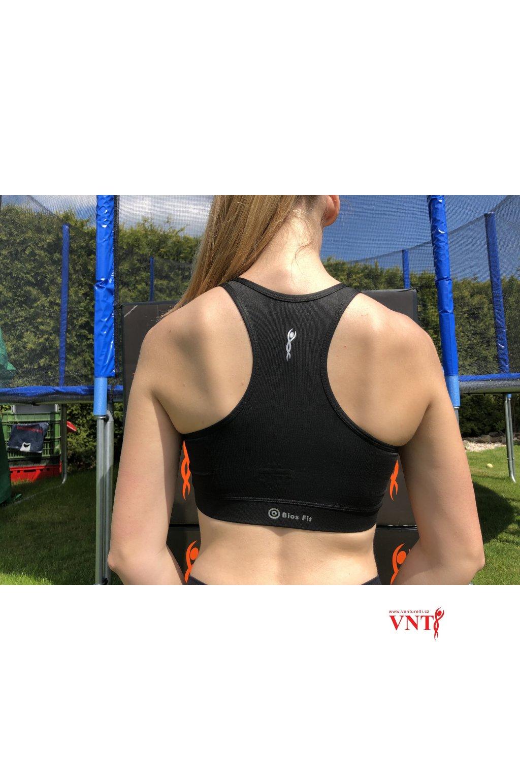 Sportovní podprsenka Venturelli černá Bios Fit