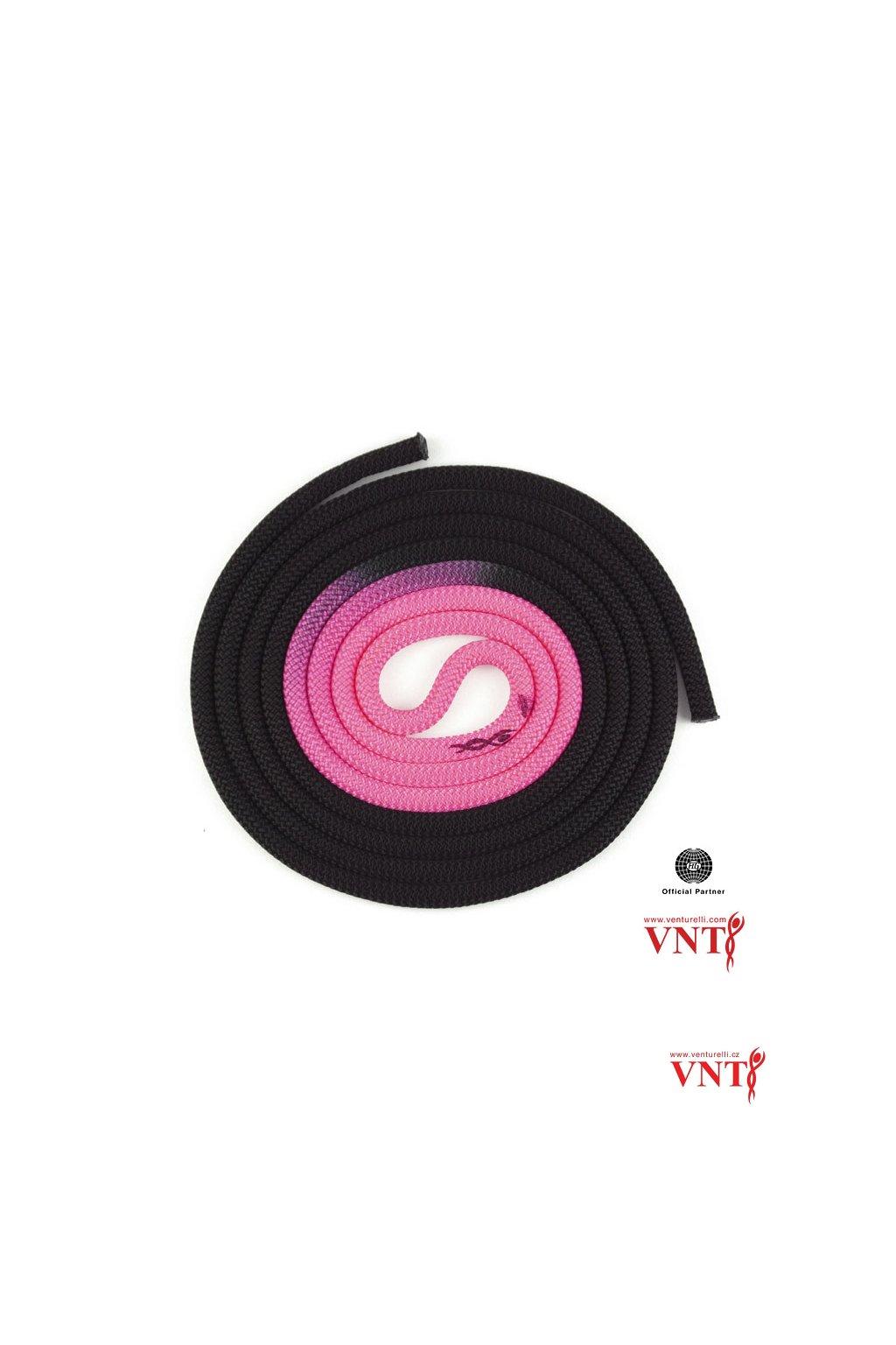 černá neon růžová