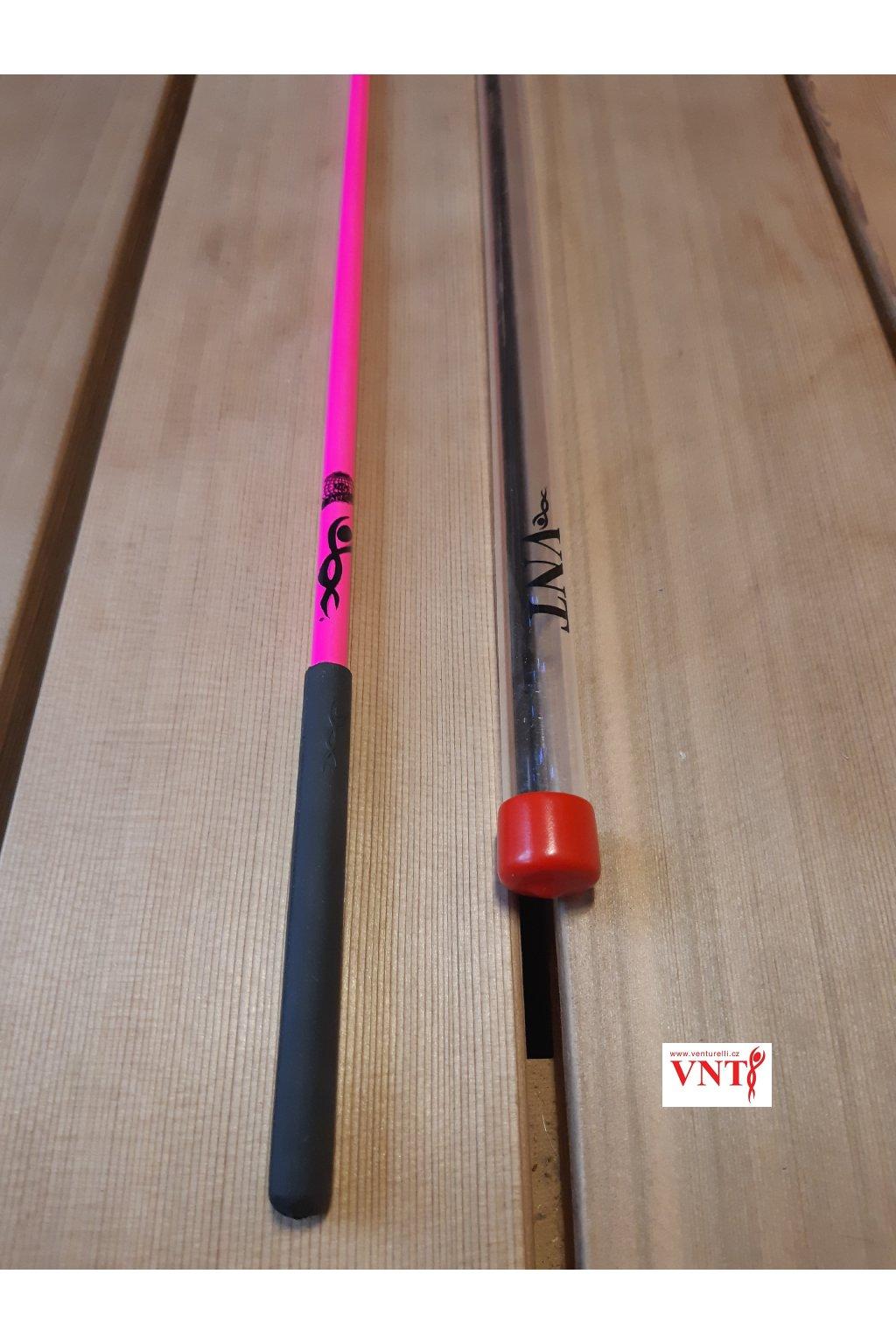 gymnastická tyčka růžová neon