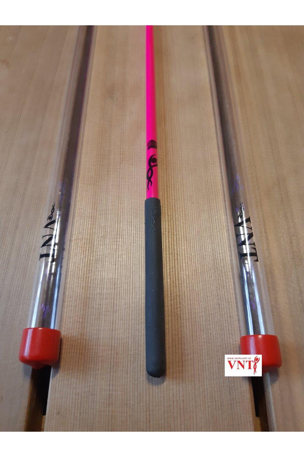 gymnastická tyčka růžová neon tmava