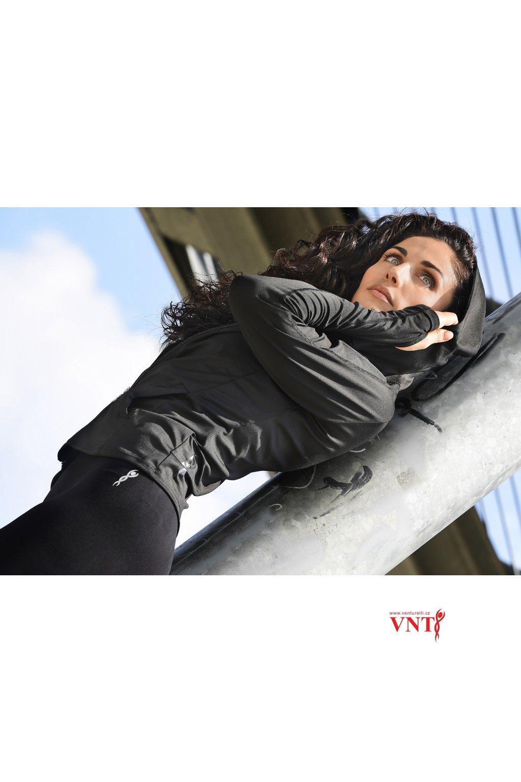 Mikina s kapucí Venturelli černá image SW1 002