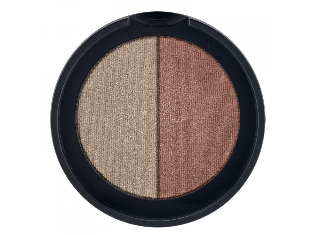 LR Colours Minerálne očné tiene Duo (odtieň Taupe & Bronze) 2 x 1,25 g