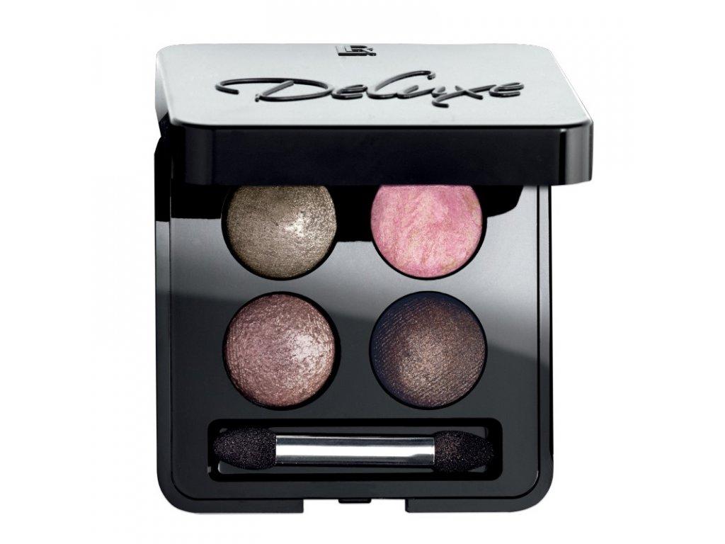 LR Deluxe Umelecké očné tiene Quattro (odtieň Delighted Nude) 4 x 0,5 g