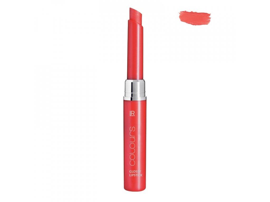 LR Colours Transparentný lesklý rúž (Crystal Peach) 1,6 g