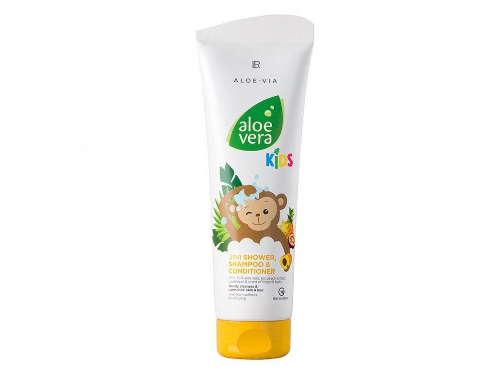 LR Aloe Vera Jungle Friends 3in1 Šampón, kondicionér & sprchový gel 250 ml