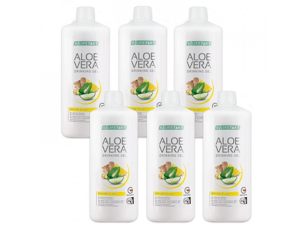 LR LIFETAKT Aloe Vera Drinking Gél Immune Plus Séria 6 x 1000 ml