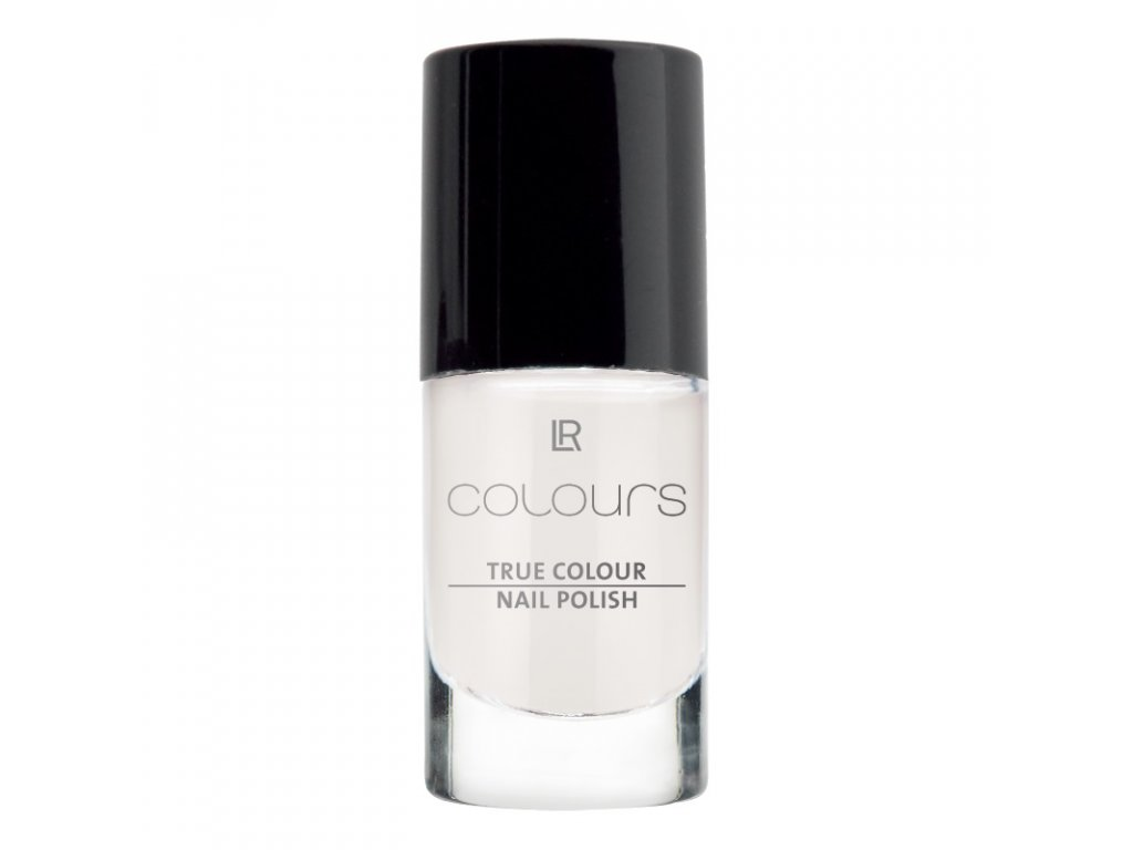 LR Colours Lak na nechty True Colour (odtieň Marshmallow White) 5,5 ml