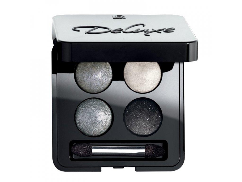 LR Deluxe Umelecké očné tiene Quattro (odtieň Night Rock) 4 x 0,5 g