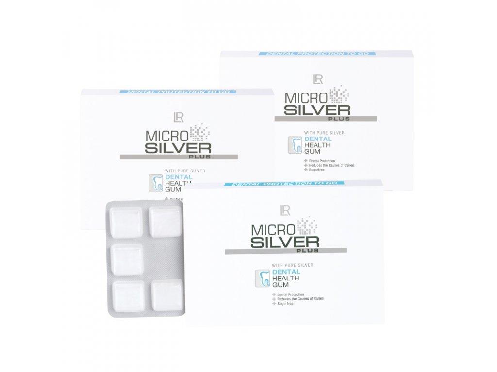 LR Microsilver Plus Žuvačky pre zdravé zuby a ďasná 3 balenia 30 x 1,4 g
