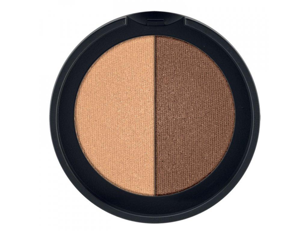 LR Colours Minerálne očné tiene Duo (odtieň Cashmere & Copper) 2 x 1,25 g