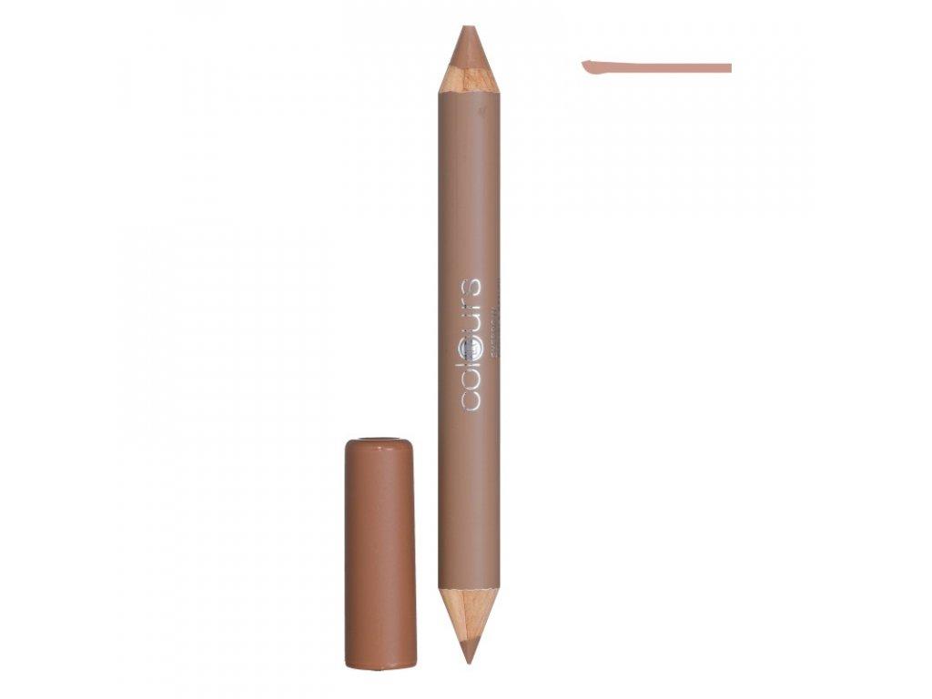 LR Colours Obojstranná ceruzka na obočie (Cashmere Creme) 4,9 g & 1,3 g