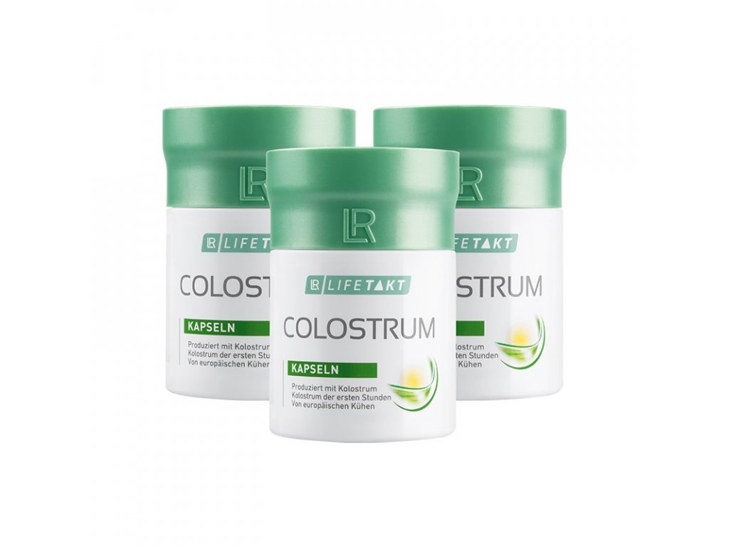 LR LIFETAKT Colostrum Kapsuly Séria 3 x 60 kapsúl / 30,9 g
