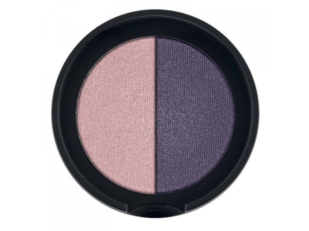 LR Colours Minerálne očné tiene Duo (odtieň Vintage Rose & Grape) 2 x 1,25 g
