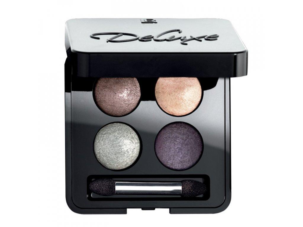 LR Deluxe Umelecké očné tiene Quattro (odtieň Secret Dawn) 4 x 0,5 g