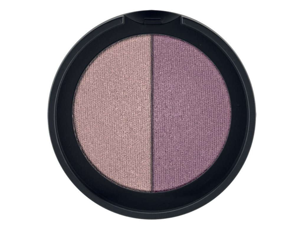 LR Colours Minerálne očné tiene Duo (odtieň Mauve & Plum) 2 x 1,25 g