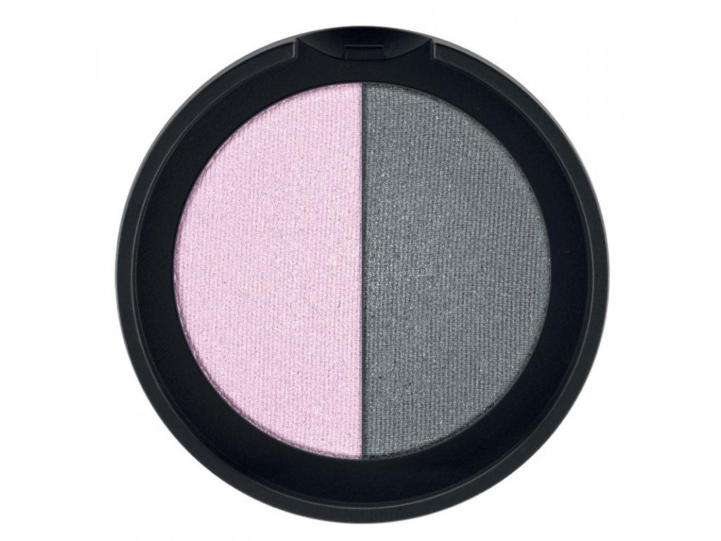 LR Colours Minerálne očné tiene Duo (odtieň Rose & Grey) 2 x 1,25 g