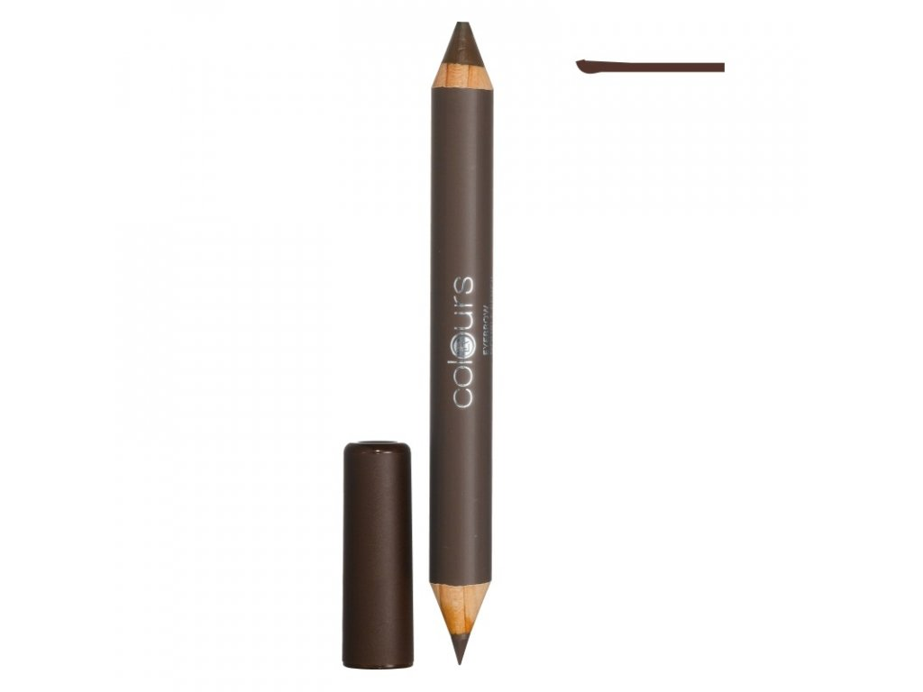 LR Colours Obojstranná ceruzka na obočie (Cashmere Brown) 4,9 g & 1,3 g
