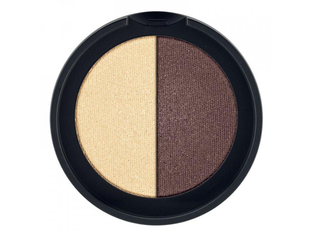LR Colours Minerálne očné tiene Duo (odtieň Gold & Bronze) 2 x 1,25 g