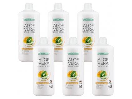 LR LIFETAKT Aloe Vera Drinking Gél Traditional s medom Séria 6 x 1 000 ml
