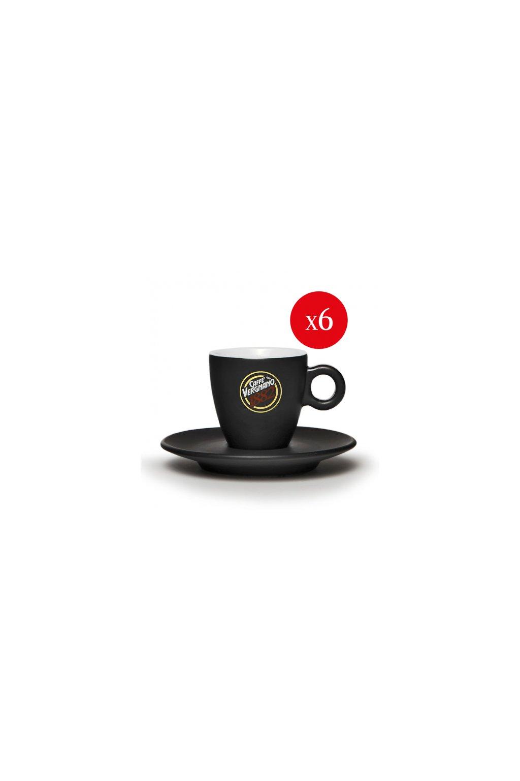 set da 6 tazzine caffe nere 1