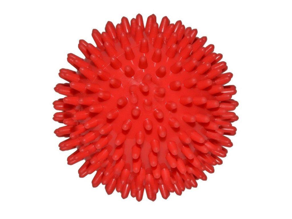 Ježek míč 9 cm červený