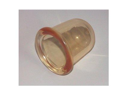 Silikonová masážní baňka - 50 mm - bílá