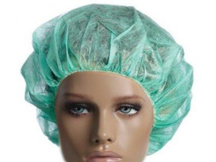 Jednorázová čepice, pokrývka hlavy 100ks (baret) skladem bílá