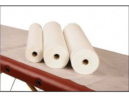 Prostěradlo netkaná textilie role 64 cm - 100 m bílá 15g. - vysoká kvalita - PERFORACE