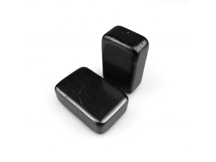 Masážní kámen Šungit - léčivý minerální kámen - 70x40x20 mm