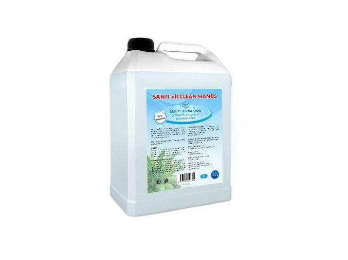 3 x 5 l SANIT all CLEAN HANDS  + bezdotykový dávkovač 1000 ml ZDARMA