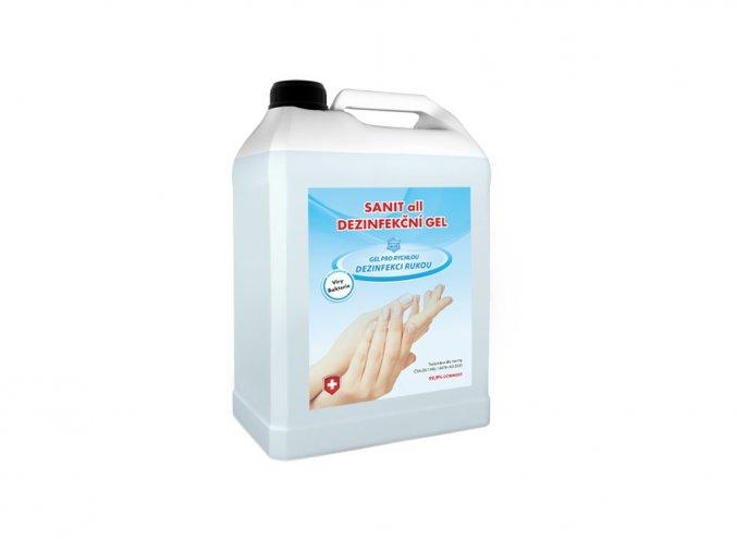 3 x 5 l SANIT all dezinfekční gel  + bezdotykový dávkovač 1000 ml ZDARMA
