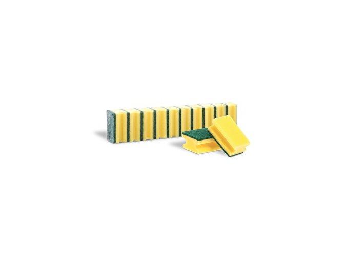 Houbička na nádobí tvarovaná MAXI 10 ks, žlutá