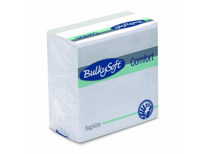 Papírové ubrousky Bulkysoft 30 x 30 cm, 100 ks celulóza