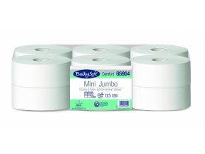 Toaletní papír Bulkysoft Mini JUMBO 190, 100% celulóza