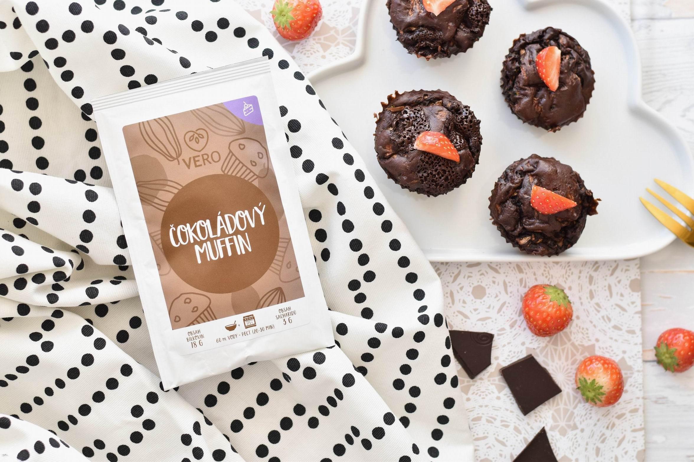 Kakaový muffin s cuketou