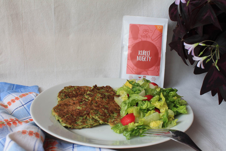 Brokolicové placičky - VERO kuřecí nugety