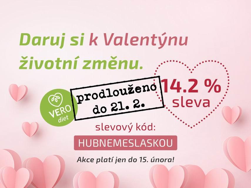 Valentýnská sleva 14.2% | VERO diet
