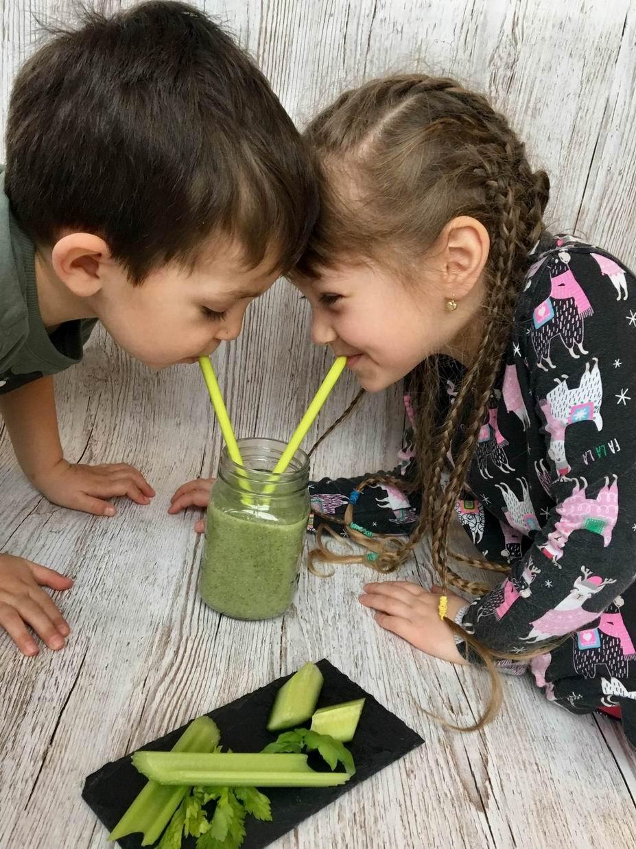 Smoothie z řapíkatého celeru a děti